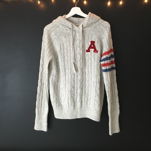 Grey Hoodie Abercrombie and Fitch Sweater